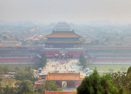 air pollution in the Forbidden City