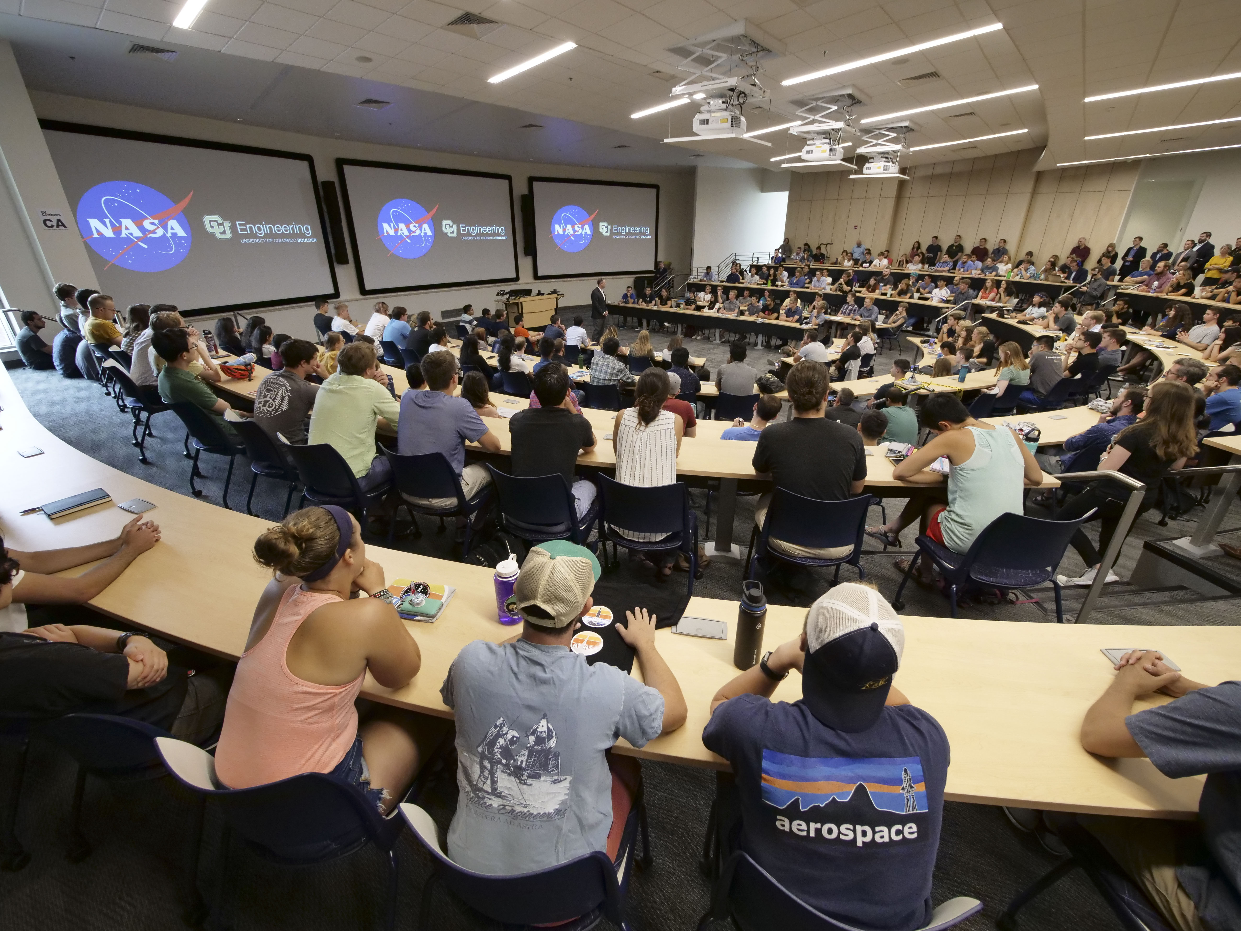 NASA Administrator Bridenstine, Aerospace Engineering Sciences building