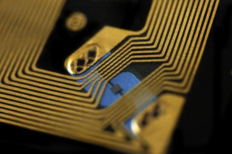 a standard RFID chip.