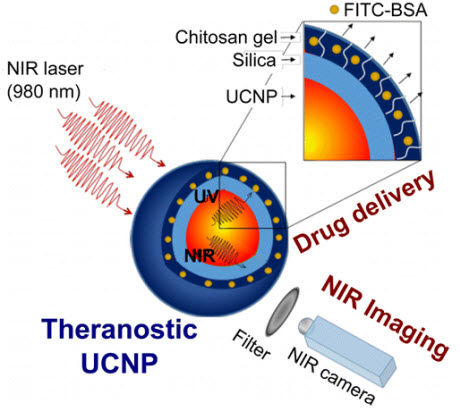 Photocleavable Hydrogel-Coated Upconverting Nanoparticles