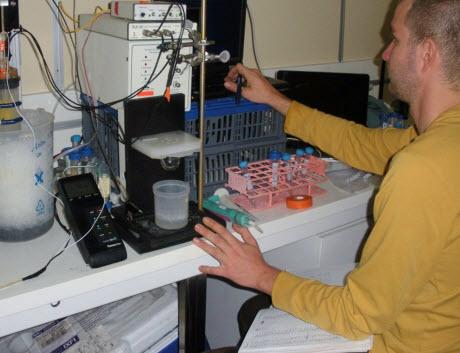 Dr. Jordon Beckler of Mote Marine Laboratory