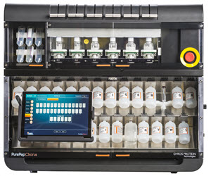 Gyros Protein Technologies PurePep Chorus automated peptide synthesizer