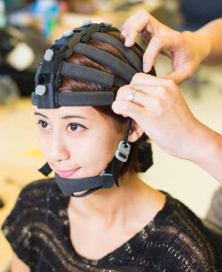 The headset features 64 channels for EEG monitoring