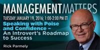 Webinar: Speaking with Poise and Confidence – An Introvert's Roadmap to Success