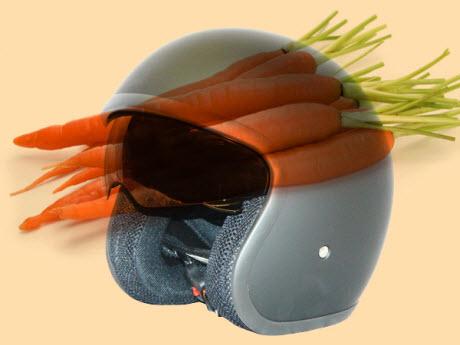 carrot helmet