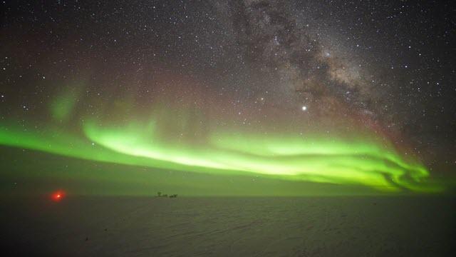Polar Light Above the South Pole