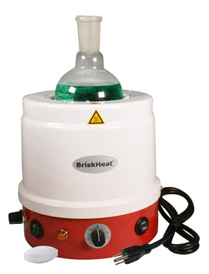 BriskHeat's metal-housed heating mantles now include a built-in magnetic stirring function