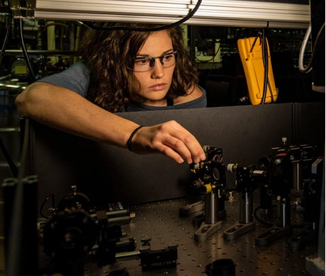 Katie McCormick in NIST Ion Trapping Lab