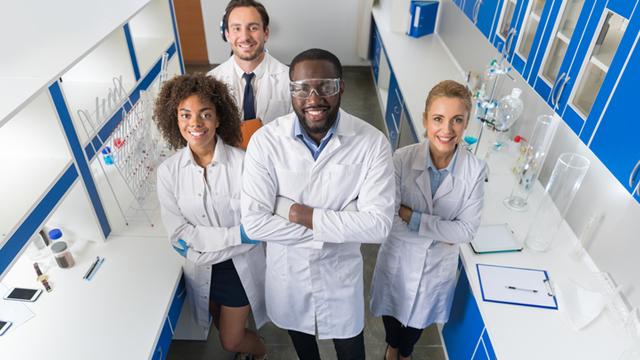 diverse laboratory staff