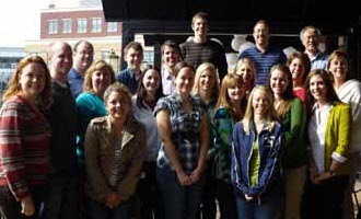 The cytogenetics lab staff at the Indiana University School of Medicine's Department of Medical and Molecular Genetics in Indianapolis.