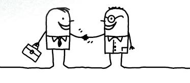 Cartoon Handshake