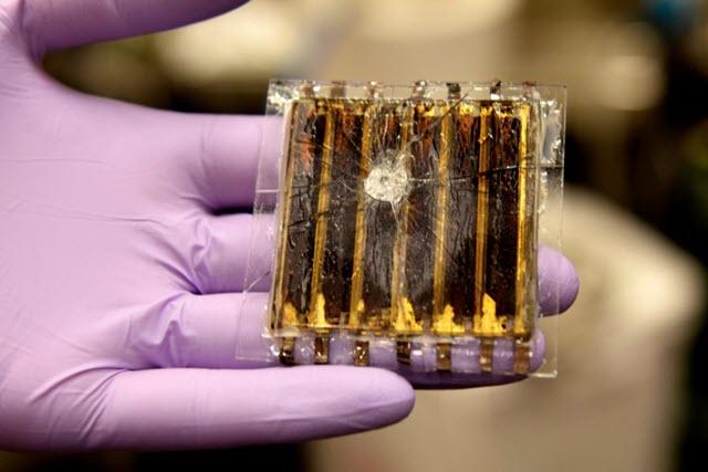A Smashed Perovskite Solar Module