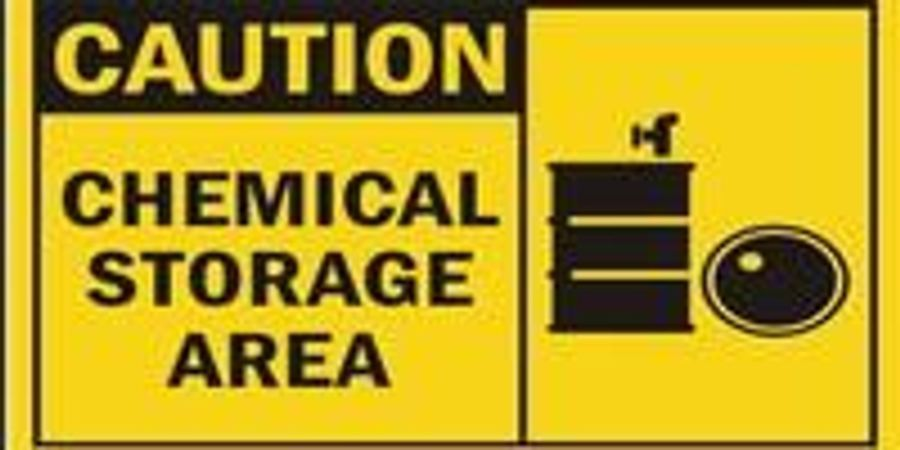 Provide Secure, Adequately Spaced, Well Ventilated Storage of Chemicals