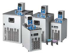 Thermostatically controlled low-temperature baths and circulators