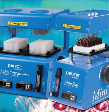 Porvair Sciences MiniVap® nitrogen blowdown evaporator