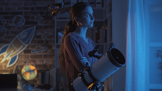 young female astronomer