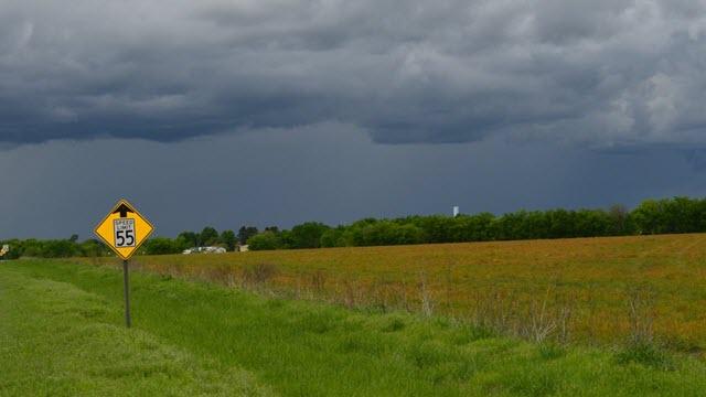 Farmland in eastern Oklahoma