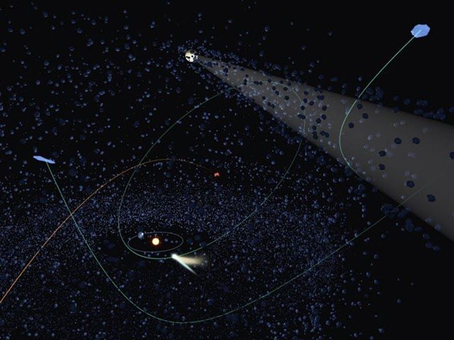Here and Gone: Outbound Comets Are Likely of Alien Origin
