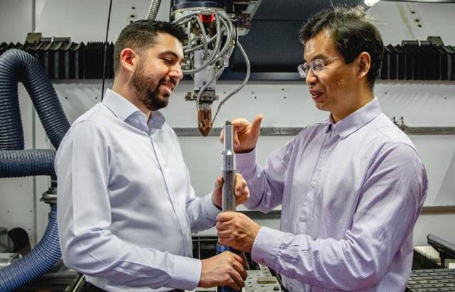 Inspecting a 3D Printed Titanium Alloy Cube