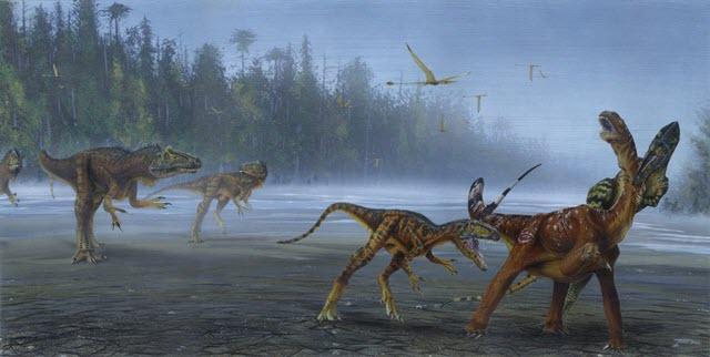 Allosaurus jimmadseni Attack Juvenile Sauropod
