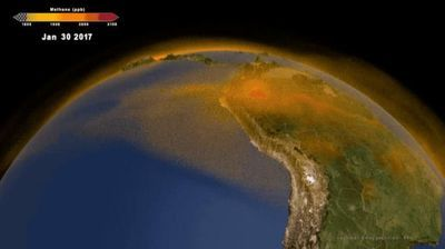 New 3D View of Methane Tracks Sources