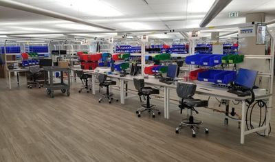 Formaspace Builds ESD Workbenches for GM's Ventilator Production