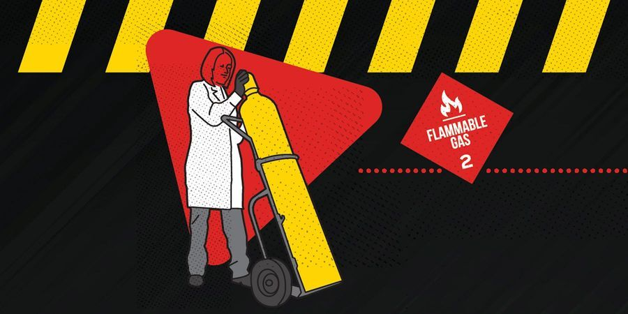 Gas Handling Safety Infographic