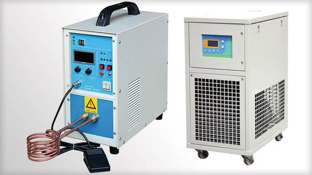 Across International 15KW mid-frequency compact induction heater with WAC-1 chiller