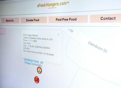 food donation software screen