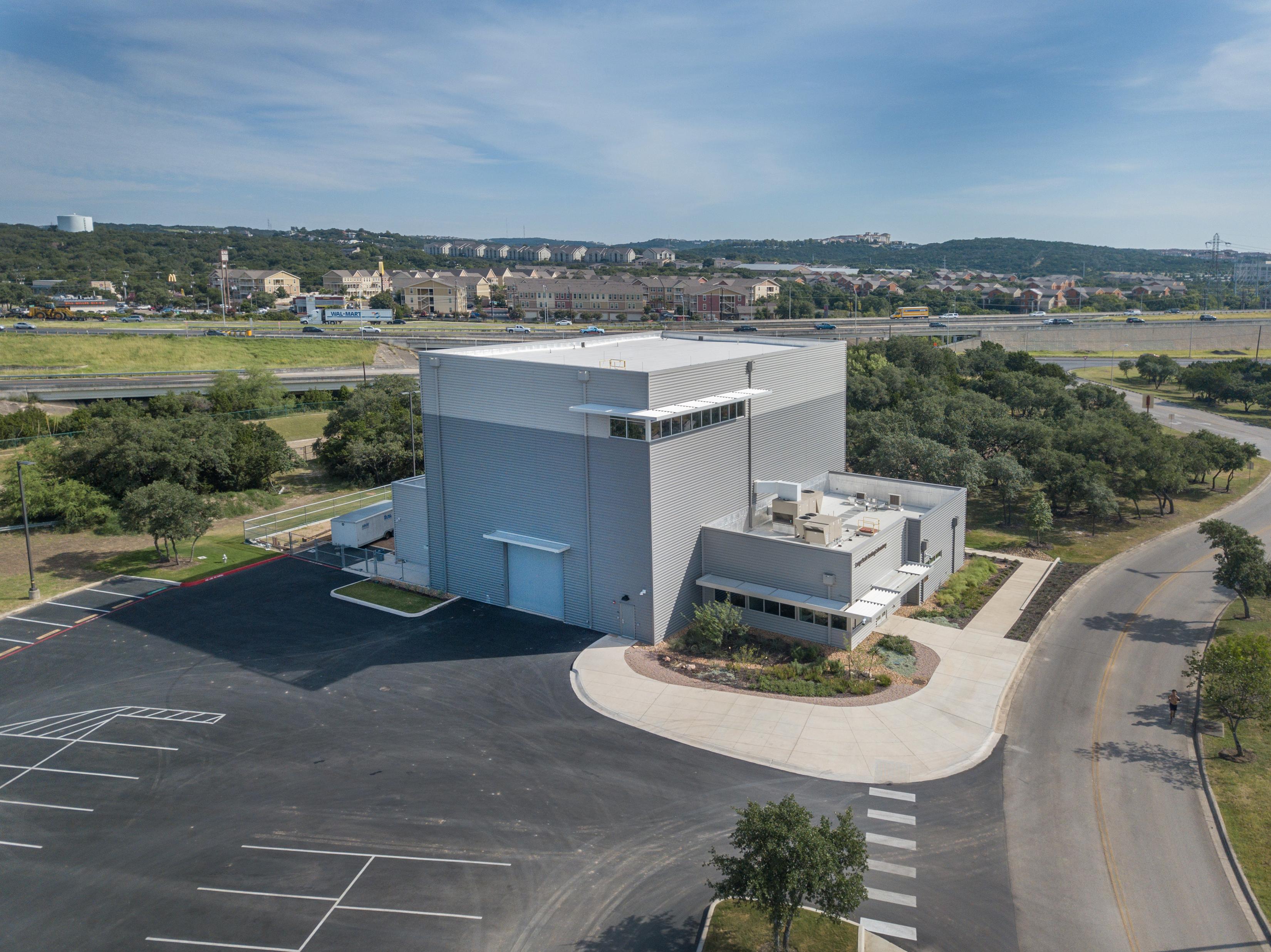 Exterior of UTSA's Large-Scale Testing Laboratory
