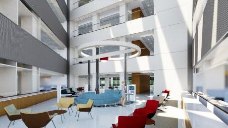 St. Jude's advanced research center interior