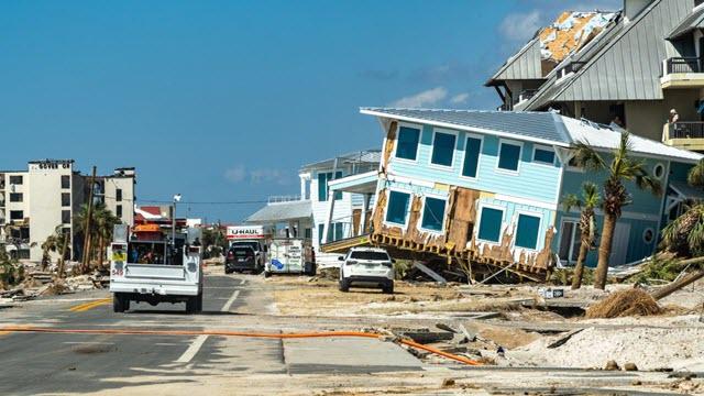 Aftermath of Hurricane Michael Making Landfall