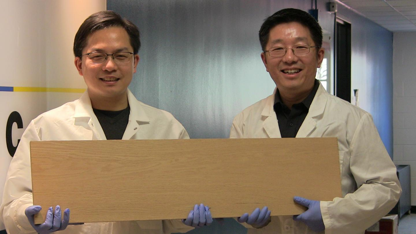 The Engineers holding the Super Wood