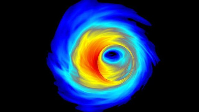Simulation of An Accretion Disk Surrounding a Supermassive Black Hole