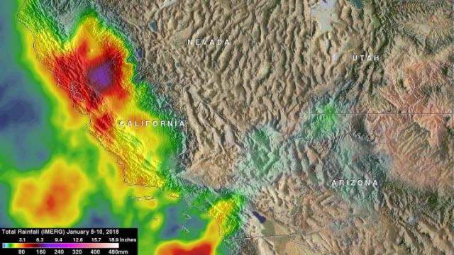 IMERG Image of Rainfall Over Sacramento Valley