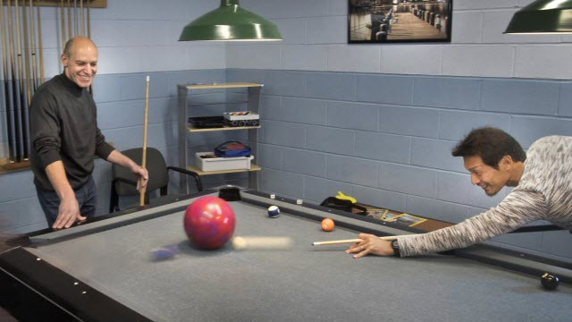 Particle Collisions with Billiard Balls