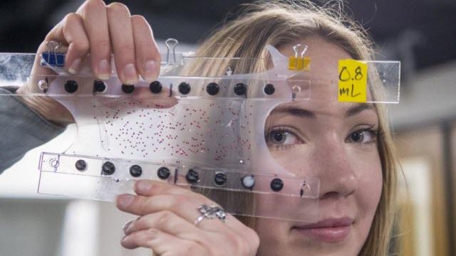 Undergraduate mechanical engineering major Madeline King