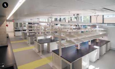 University of California, Riverside School of Medicine lab ceiling