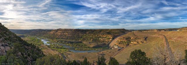The Navajo Dam on the San Juan River