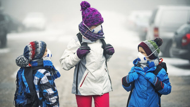 children exposed to poor air quality
