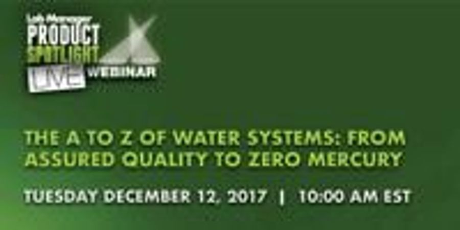 The A to Z of Water Systems: From Assured Quality to Zero Mercury
