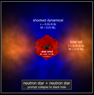 modeled effects of a neutron star merger that results in the formation of a black hole