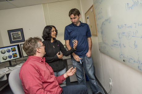 Peter Zwart, Kanupriya Pande, and Jeff Donatelli at Lawrence Berkeley National Laboratory