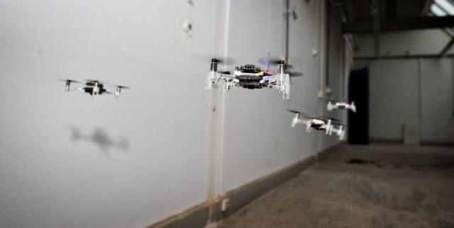 Swarm Drones Flying