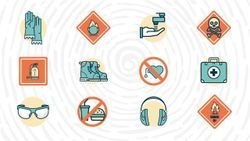 Science Laboratory Safety Symbols and Hazard Signs, Meanings