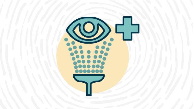 Eye wash station lab safety symbol