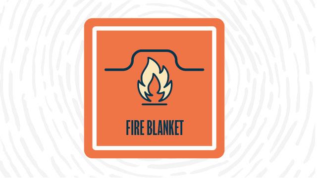 Fire blanket lab safety symbol