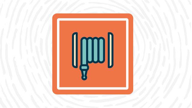 Fire hose lab safety symbol