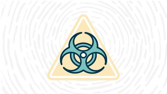 Biohazard lab safety symbol