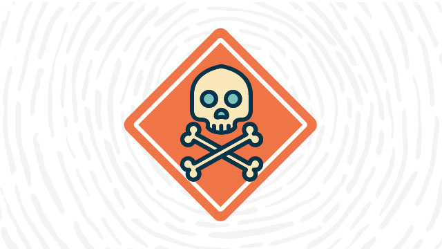 Poison / toxic material lab safety symbol